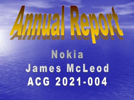 Executive Summary Nokia's net sales in 2003 decreased by 2% compared with 2002 and totaled EUR 29 455 million (EUR 30 016 million in 2002). Operating.