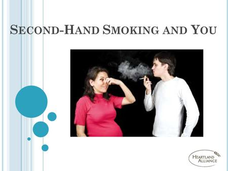 S ECOND -H AND S MOKING AND Y OU. T RUE OR F ALSE ? Smoking is harmful to your health.