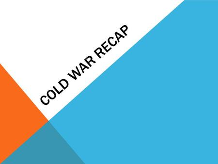 COLD WAR RECAP. INSTRUCTIONS Using your notes, unless otherwise noted, you will have 3 minutes per concept to answer as much as you can with your group.