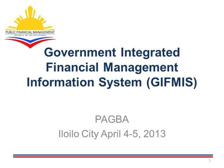 Government Integrated Financial Management Information System (GIFMIS)