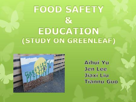 Claim  As the number of issues related to food safety and horticulture education are increasing, we are going to argue that learning and knowing the.