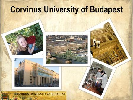 Corvinus University of Budapest. Brief history Faculty of Business Administration Faculty of Economics Faculty of Social Sciences Faculty of Public Administration.