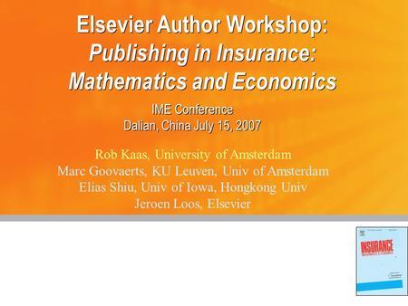 insurance mathematics and economics pdf