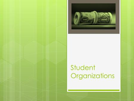 Student Organizations. General Information  All student organizations are issued a unique fund code by the Business Office. The fund code is required.