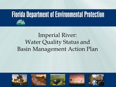 Imperial River: Water Quality Status and Basin Management Action Plan.