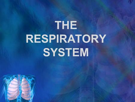 THE RESPIRATORY SYSTEM. RESPIRATION Respiration supply O 2 to & remove CO 2 from all body cells 3 main stages: