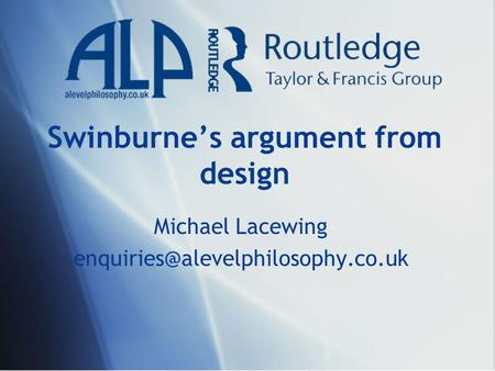Swinburne's argument from design