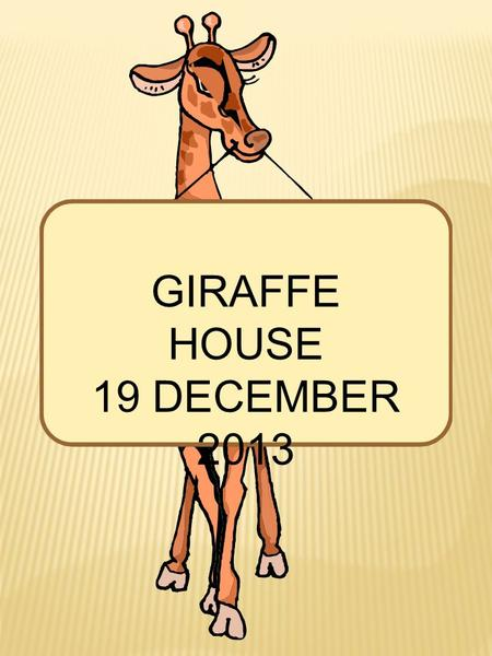 GIRAFFE HOUSE 19 DECEMBER 2013. GIRAFFE HOUSE 19 DECEMBER 2013 Jaimee, Claire, Tracy and Ganny on a visit to the Giraffe House. It looks like this is.