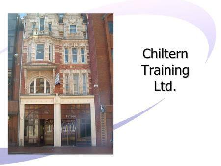 Chiltern Training Ltd.. Agenda What courses do Chiltern Training deliver? What is a Traineeship? What is an apprenticeship? Apprenticeship Qualifications.