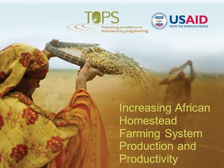 Increasing African Homestead Farming System Production and Productivity.