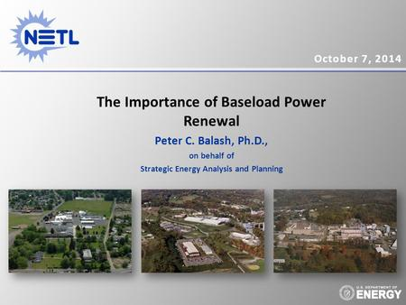 The Importance of Baseload <strong>Power</strong> Renewal