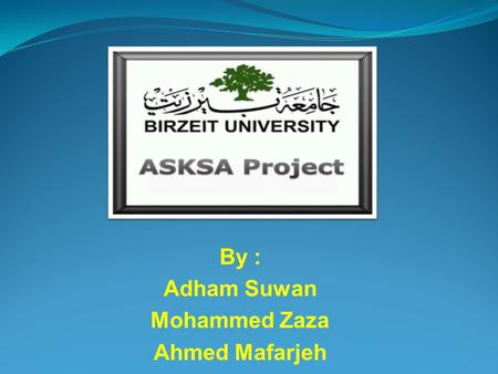 By : Adham Suwan Mohammed Zaza Ahmed Mafarjeh. Achieving Security through Kinect using Skeleton Analysis (ASKSA)