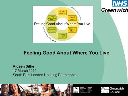 Feeling Good About Where You Live Aideen Silke 17 March 2010 South East London Housing Partnership.