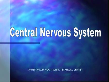 JAMES VALLEY VOCATIONAL TECHNICAL CENTER. Neuron: Nerve Cell n Basic structural unit nervous system n Consists of: –nucleus –nerve fibers /dentrites –axon.