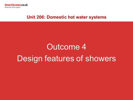 Unit 206: Domestic hot water systems