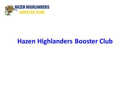 Hazen Highlanders Booster Club