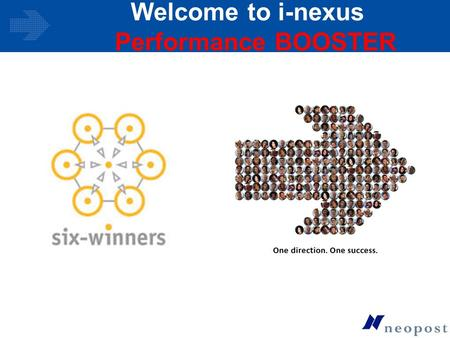 Welcome to i-nexus Performance BOOSTER. © i-solutions Global Ltd. 2006 Agenda What is i-nexus Performance BOOSTER ? Opportunity Management Six Sigma Training.