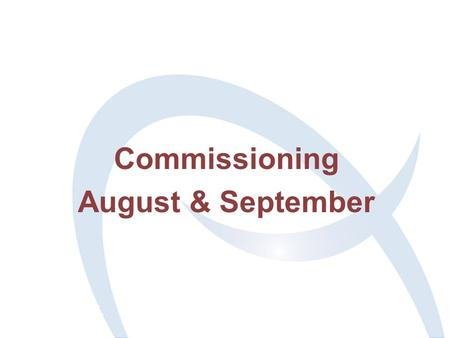 Commissioning August & September. 2 Agenda 11:20 Coffee 11:30 Introduction Sue S 11:35 Controls (an overview) Brian M 10:55 Controls & Data Acquisition.