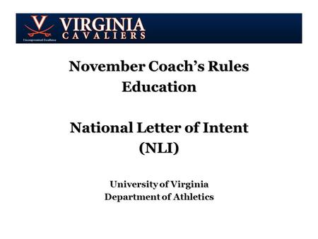 NATIONAL LETTER OF INTENT Susan Peal ppt