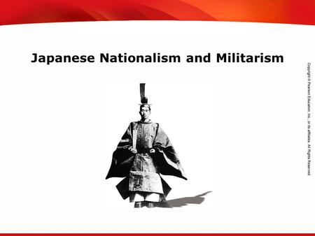 TEKS 8C: Calculate percent composition and empirical and molecular formulas. Japanese Nationalism and Militarism.