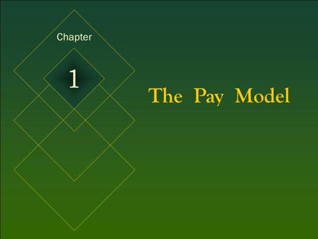 Chapter 1 The Pay Model.