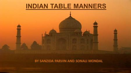 BY SANZIDA PARVIN AND SONALI MONDAL