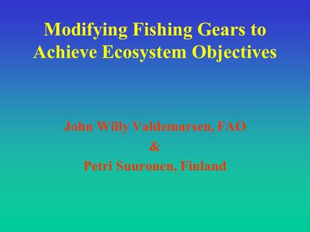How fishing gears affect the ecosystem