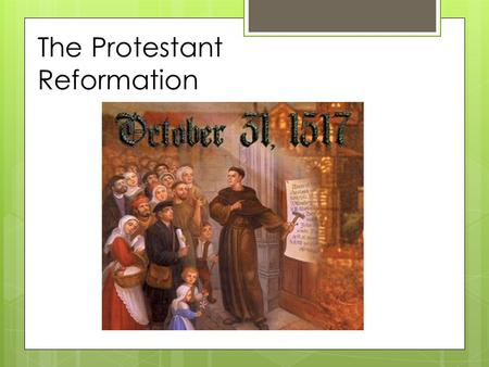The Protestant Reformation Holy Roman Empire in 1500  Located in modern day Germany  Not a united nation but a patchwork of independent states  Each.