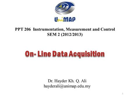 Low Cost DAQ  - ppt download