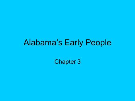 Alabama's Early People