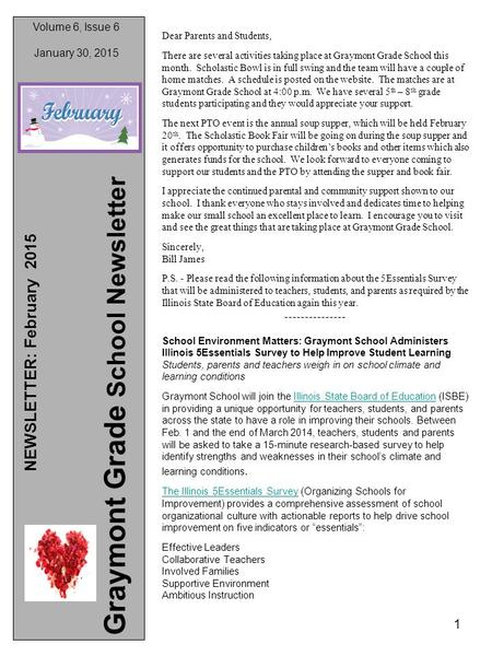 Issue  2015 Newsletter February 2015 Graymont Grade