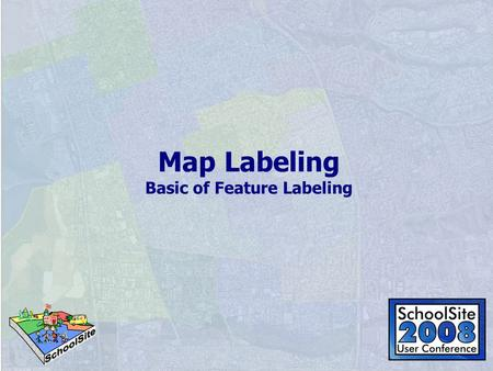 Map Labeling Basic of Feature Labeling. What's the difference?