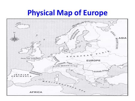 Physical Map of Europe.