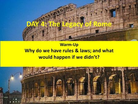 Why do we have rules & laws; and what would happen if we didn't?