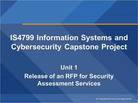 IS4799 Information Systems and Cybersecurity Capstone Project