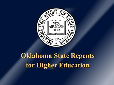 Oklahoma State Regents for Higher Education. Enrollment has increased; state appropriations have decreased. System Funding and FTE Enrollment History.