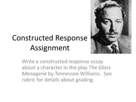 Constructed Response Assignment