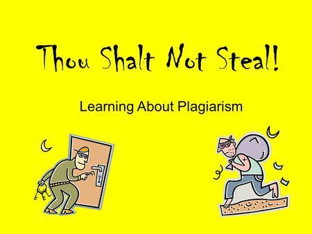 Paper on plagiarism term paper