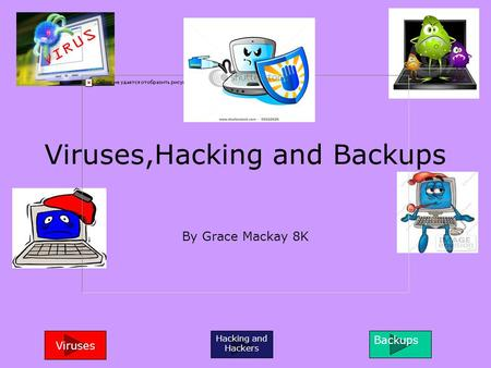 Viruses,Hacking and Backups By Grace Mackay 8K Viruses Hacking and Hackers Backups.
