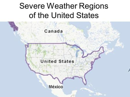 Severe Weather Regions of the United States. Drought.