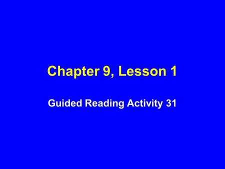 Guided Reading Activity 31
