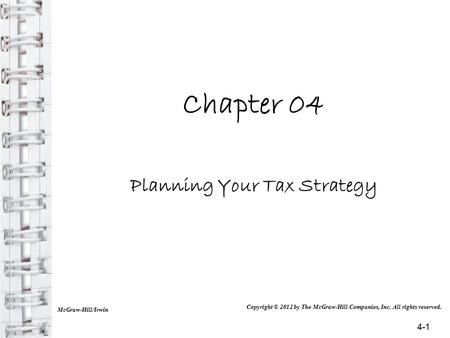Planning Your Tax Strategy
