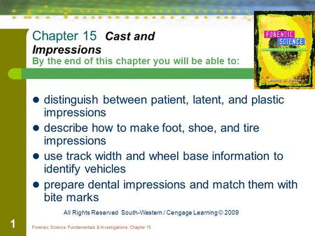 distinguish between patient, latent, and plastic impressions