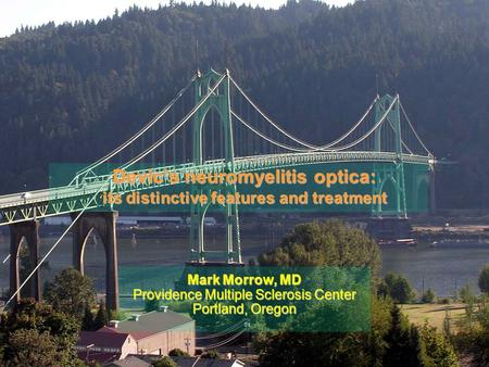 Devic's neuromyelitis optica: its distinctive features and treatment