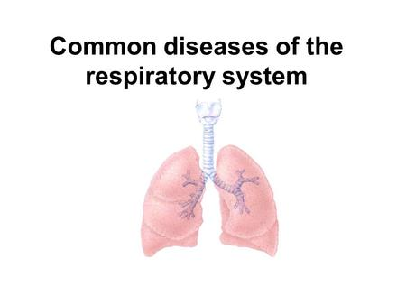 Common diseases of the respiratory system