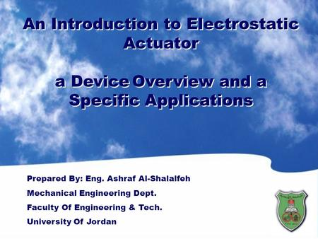 An Introduction to Electrostatic Actuator