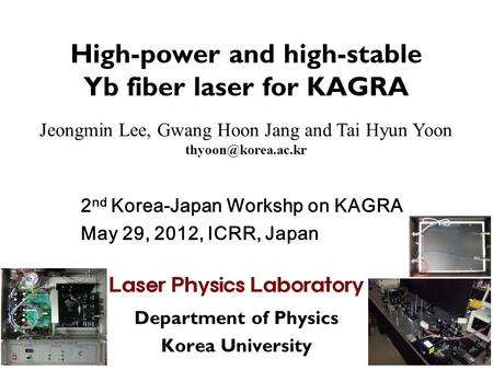 High-<strong>power</strong> <strong>and</strong> high-stable Yb fiber laser for KAGRA