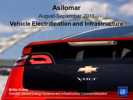 Vehicle Electrification and Infrastructure