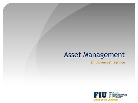 Asset Management Employee Self Service. Agenda Introduction Purpose and Objectives Tag Samples Workflow and Initiate Transfer Process Review Transfer.