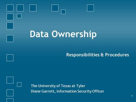 Data Ownership Responsibilities & Procedures